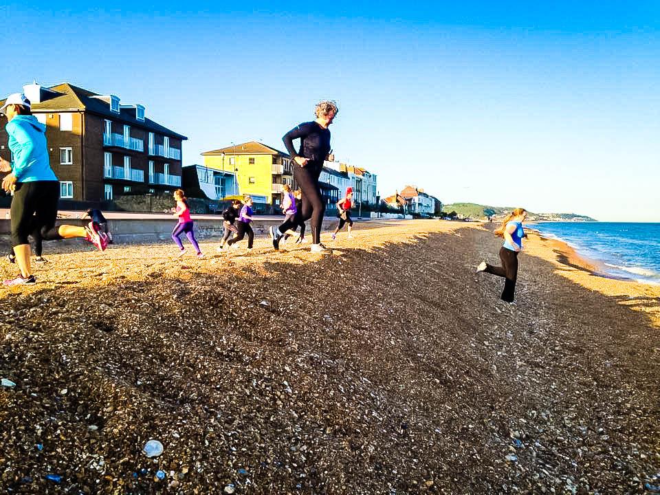 Hythe Beach Bootcamp   Beach Run Down
