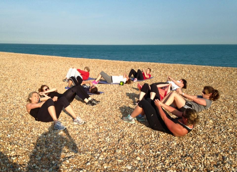 Hythe Beach Bootcamp   Beach Sit Ups