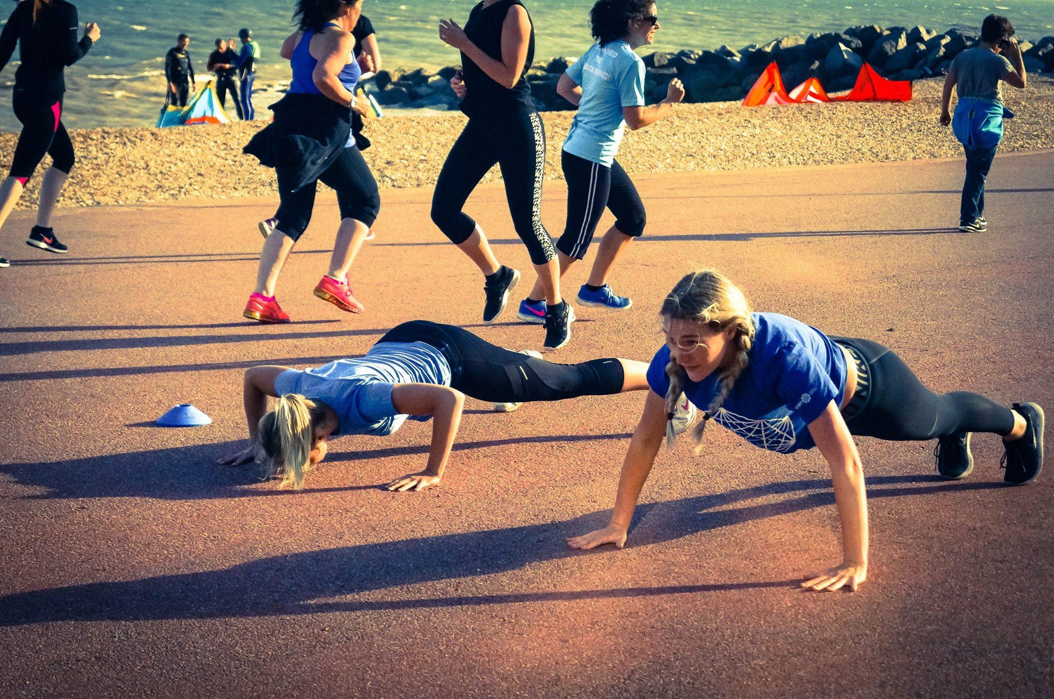 Hythe Beach Bootcamp   Push Ups