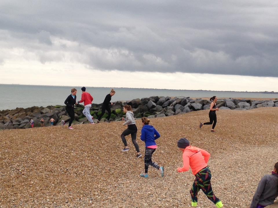 Hythe Beach Bootcamp   Beach Runs